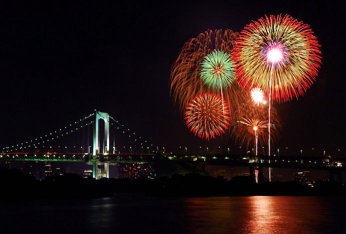 Fireworks festival at Sumida river in Tokyo
