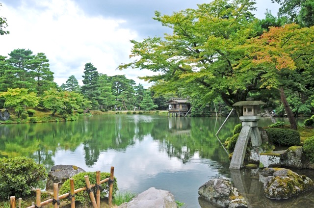 Kenroku-en in Kanazawa, Ishikawa, Japan