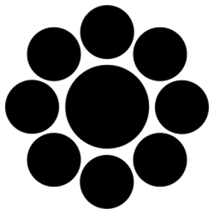 Kuyo-mon (nine stars crest)