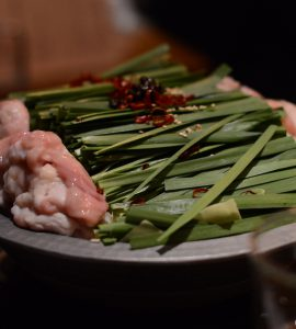 shio motsu-nabe, hot pot stew made with offal