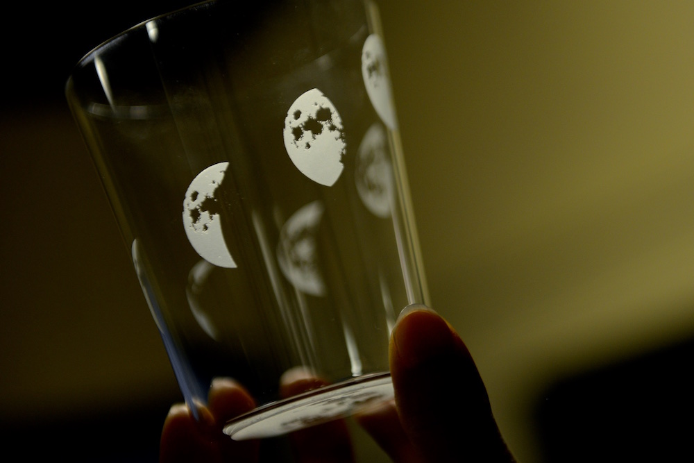 A Glass with moons