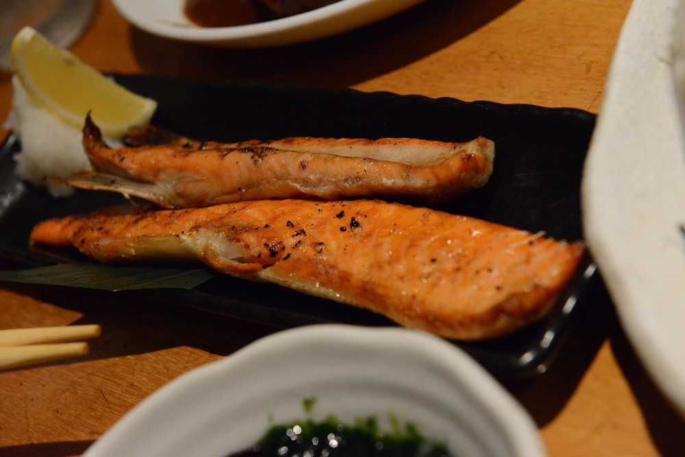 Harasu, red grilled salmon