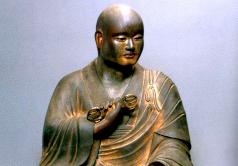 Seated Statue of Kukai aka Kobo Daishi